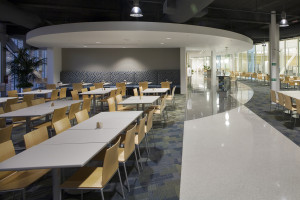 Navy Federal Credit Union NFCU Home Office Penascola Florida B3 Interior - Cafe Seating reduced
